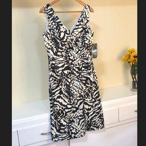 DONNA RICCO V-NECK EVENING DRESS WOMEN SZ 8 NWT